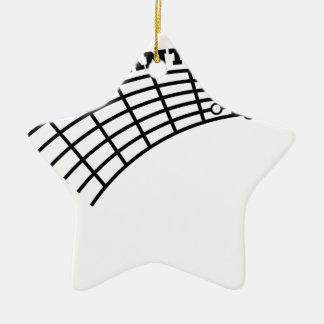 guitar humor ceramic star ornament
