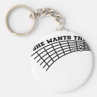 guitar humor keychain