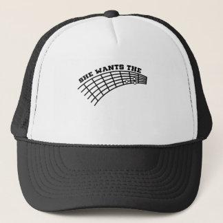 guitar humor trucker hat