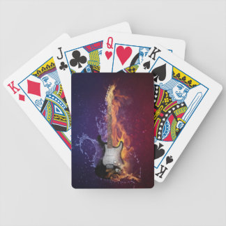 Guitar Ice and Fire Bicycle Playing Cards
