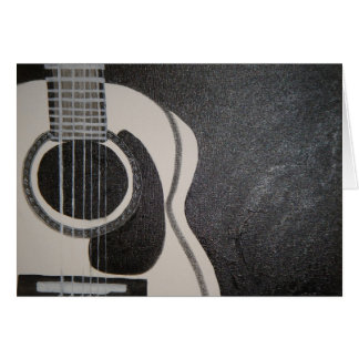 Guitar in Black and White Card