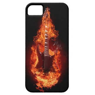 Guitar in Flames 2 iPhone 5 Case