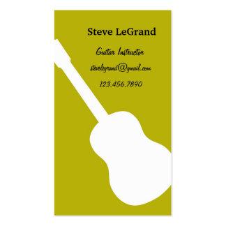 Guitar Instructor Business Card