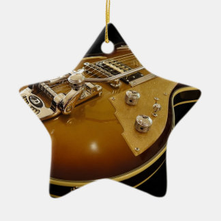 Guitar Instrument Music Rock Music Ceramic Ornament