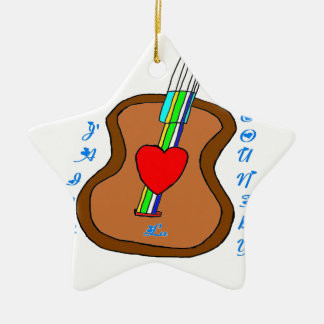GUITAR J LIKES COUNTRY.png Ceramic Star Ornament