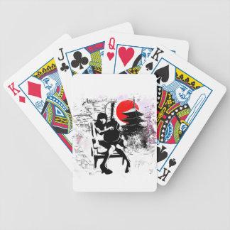 Guitar Japanese Girl Bicycle Playing Cards