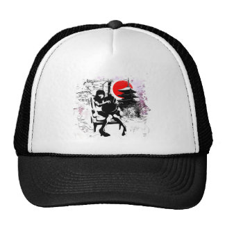 Guitar Japanese Girl Trucker Hat