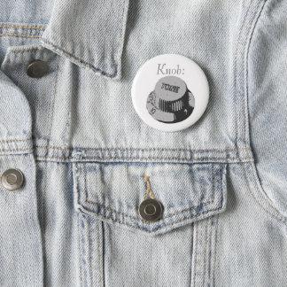 Guitar Knob Badge 2 Inch Round Button