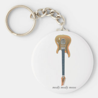 Guitar Lead Basic Round Button Keychain