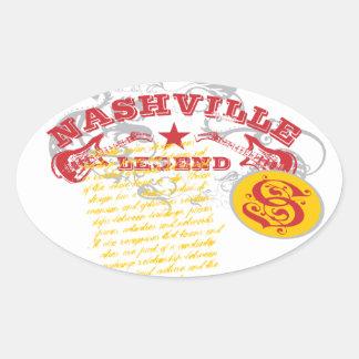 Guitar Legend Oval Sticker