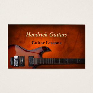 Guitar Lessons Guitar Sales Business Card
