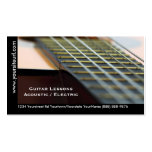 Guitar Lessons - Music Teacher Acoustic Guitar Pack Of Standard Business Cards