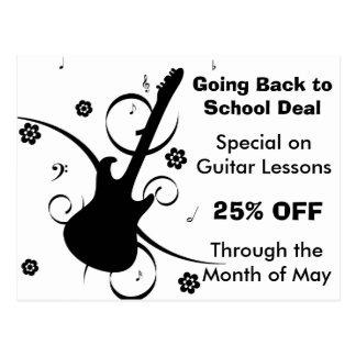 Guitar Lessons Sale Postcard