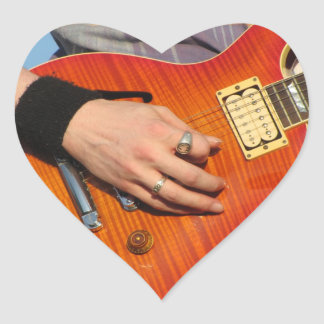 Guitar Love Heart Sticker