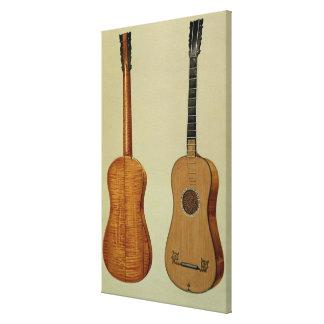 Guitar made by Antonio Stradivarius (c.1644-1737), Canvas Print