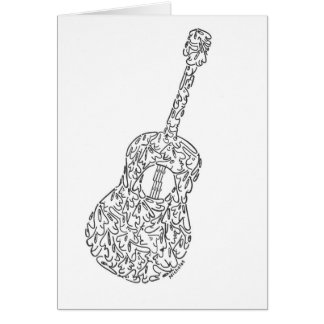 GUITAR - made of PEOPLE faces Card