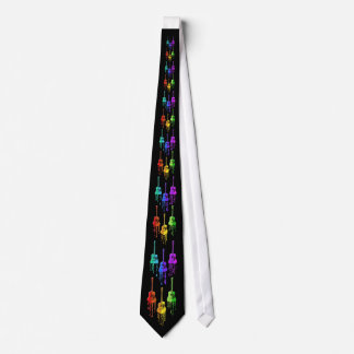 Guitar Melting into Rainbow Colors Tie