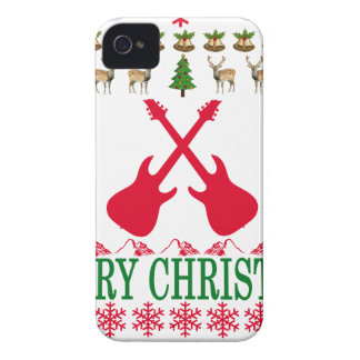 GUITAR MERRY CHRISTMAS . iPhone 4 CASES