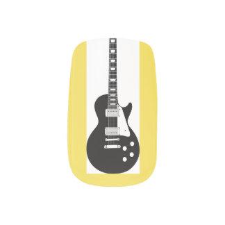guitar minx nail art