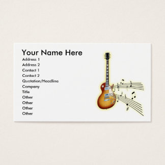 Guitar Music Notes Business Card
