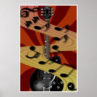 Guitar Music Poster