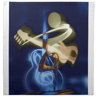 Guitar Music String Destiny Song and Dance Cloth Napkin