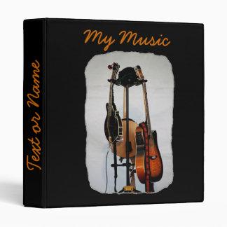 Guitar Musical Instruments 3-Ring Binder