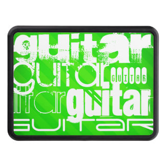 Guitar; Neon Green Stripes Hitch Covers