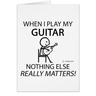 Guitar Nothing Else Matters Greeting Card