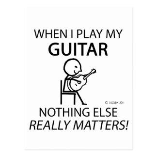 Guitar Nothing Else Matters Postcards