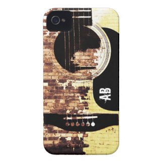 guitar on brick background urban iphone case