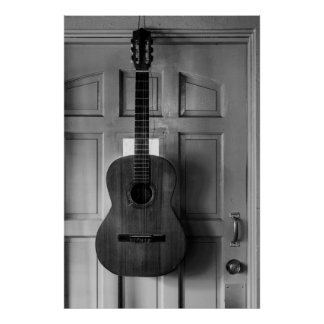 Guitar on the door poster