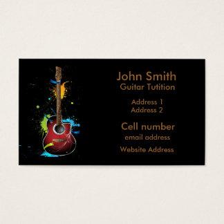 Guitar Paint Splat Business Card