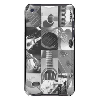 Guitar Photo Collage - black and white iPod Touch Case