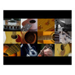 Guitar Photo Collage Poster