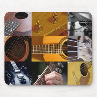 Guitar Photos Collage Mousepads