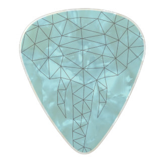 Guitar Pick Geometric Elephant