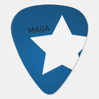 Guitar Pick MAGA USA Flag Star and stripes
