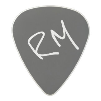 guitar-pick personalized for the guitarist, black