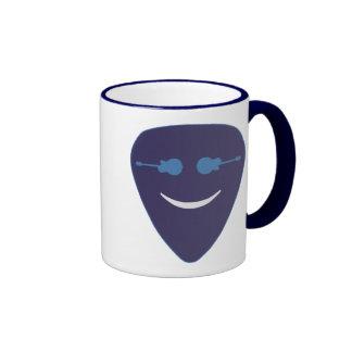 guitar pick smile face ringer mug