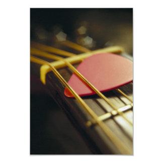 Guitar Pick Tucked in Strings Card