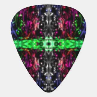guitar pick with Mandela style design