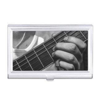 Guitar Player 3 Business Card Holder