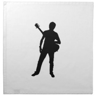 """""""Guitar Player"""" design gifts and products Napkins"""