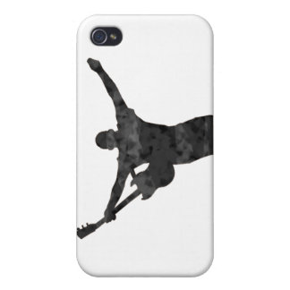 guitar player hands up faded shadow patchy iPhone 4 cases