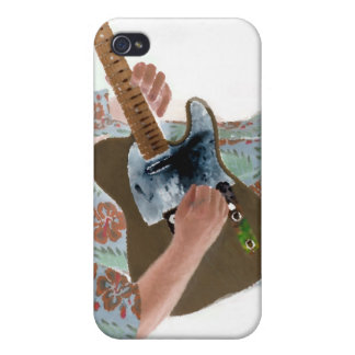 guitar player painting invert music design cases for iPhone 4