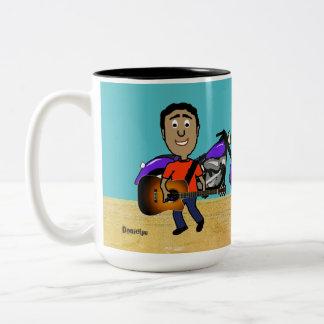 Guitar Players Comic Two-Tone Coffee Mug