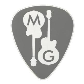 guitar-player's custom-initials polycarbonate guitar pick