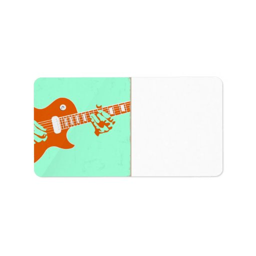 Guitar Playing Personalized Address Labels