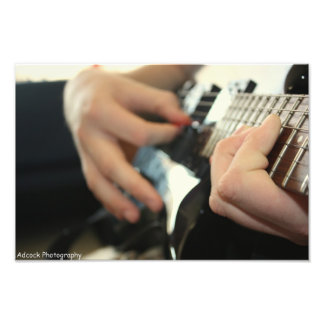 Guitar Playing Photographic Print